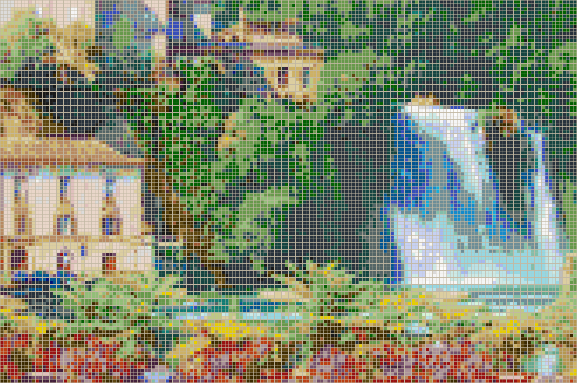 Italian Waterfall (Isola Liri) - Mosaic Design
