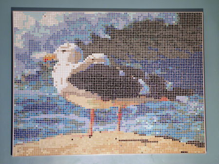 Seagulls by the Ocean - Photo of Mosaic