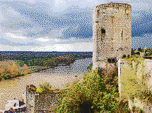 Loire Valley Tower (Château de Chinon) - Mosaic Art