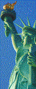 Statue of Liberty (Profile) - Mosaic Art