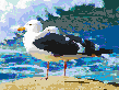 Seagulls by the Ocean - Mosaic Art