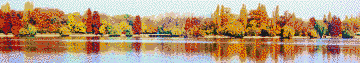 Autumn on the Lake - Mosaic Art