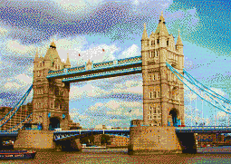 Tower Bridge - Mosaic Art