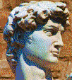 Head of Michelangelo's David - Mosaic Art