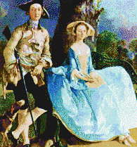 Mr and Mrs Andrews (Gainsborough) - Mosaic Art