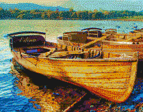 Derwentwater Boats (Lake District) - Mosaic Art