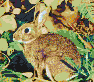Rabbit in Foliage - Mosaic Art
