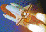 Launch of Discovery Space Shuttle - Mosaic Art