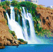Duden Waterfall (Antalya, Turkey) - Mosaic Art