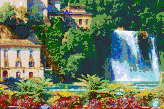 Italian Waterfall (Isola Liri) - Mosaic Art