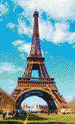Eiffel Tower - Mosaic Art