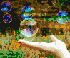 Hand with Bubbles - Mosaic Art