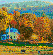 New England in the Fall (Vermont) - Mosaic Art