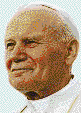 Pope John Paul II - Mosaic Art