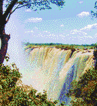 Victoria Falls Waterfall - Mosaic Art