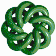 Green Torus Knot (8,3 on White) - Mosaic Art