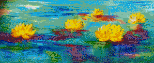 Serene Water Lillies - Mosaic Art
