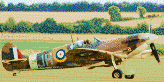 Spitfire on Grass - Mosaic Art