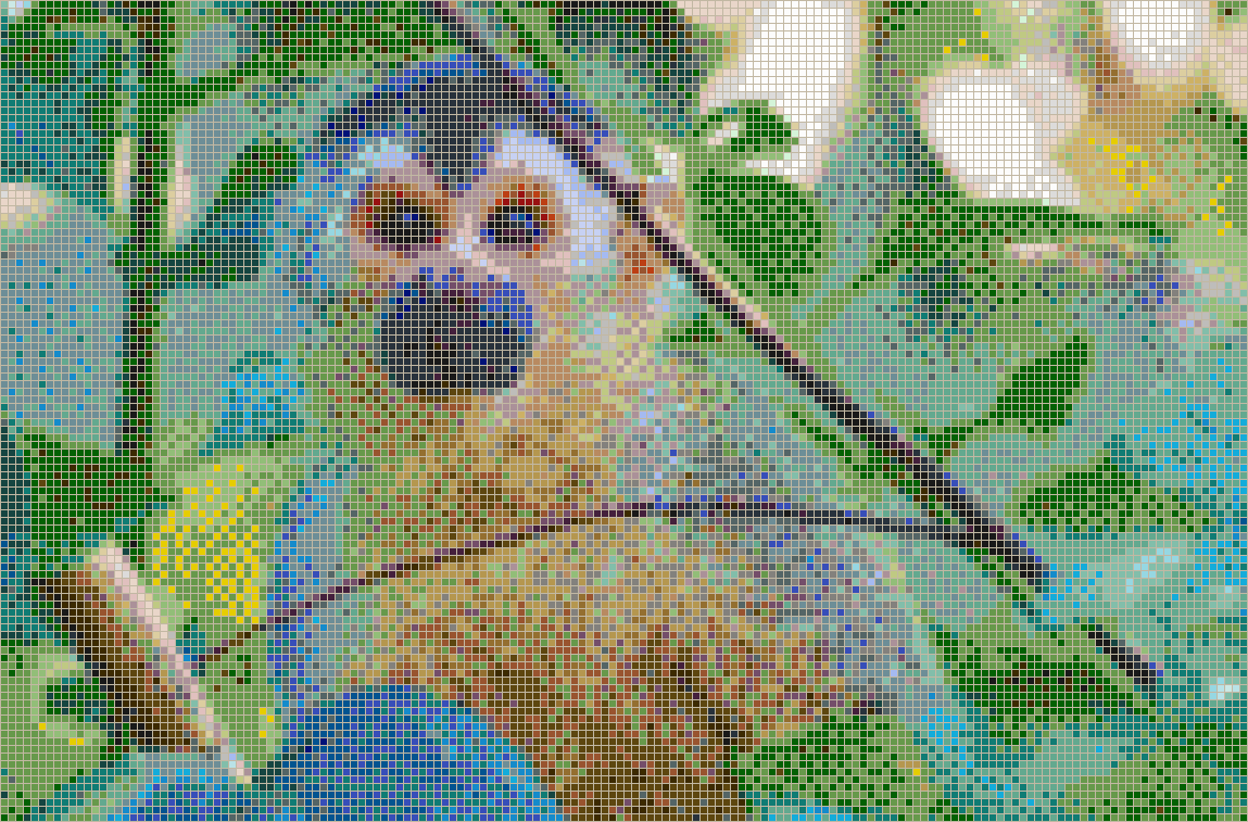 Central American Squirrel Monkey Mosaic Tile Art