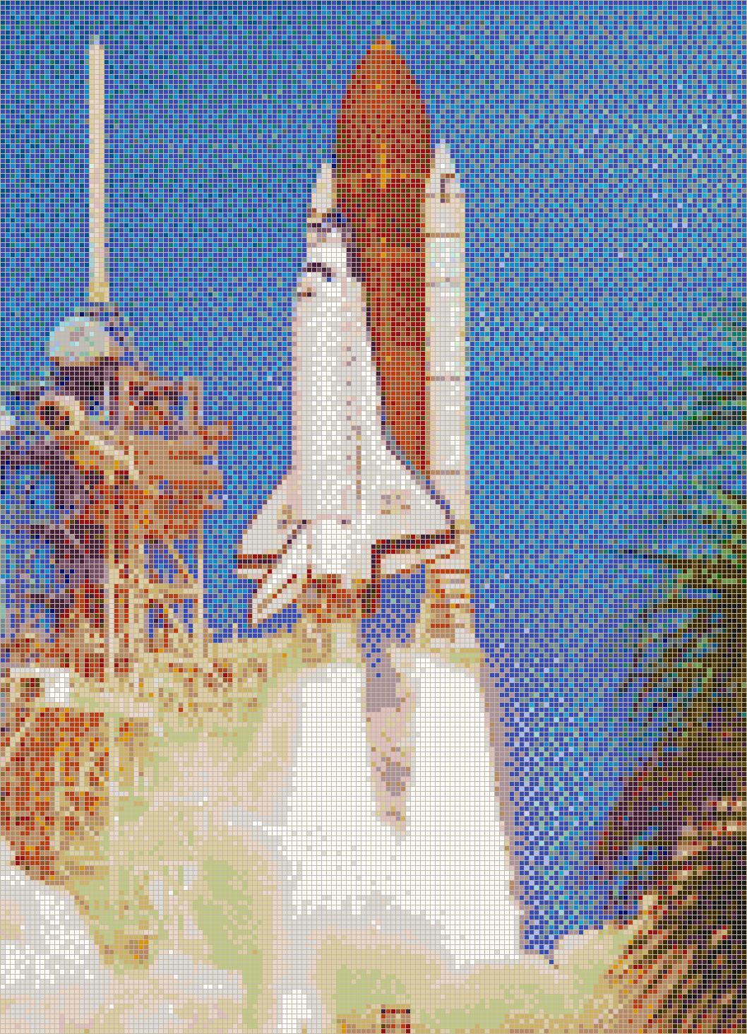 Drawings of Space Shuttle Atlantis - 114.7KB