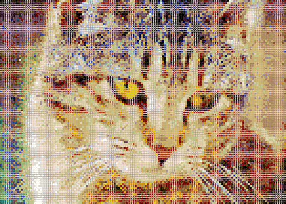 bernice the cat   mosaic tile art