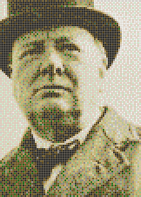 Sir Winston Churchill Mosaic Tile Art