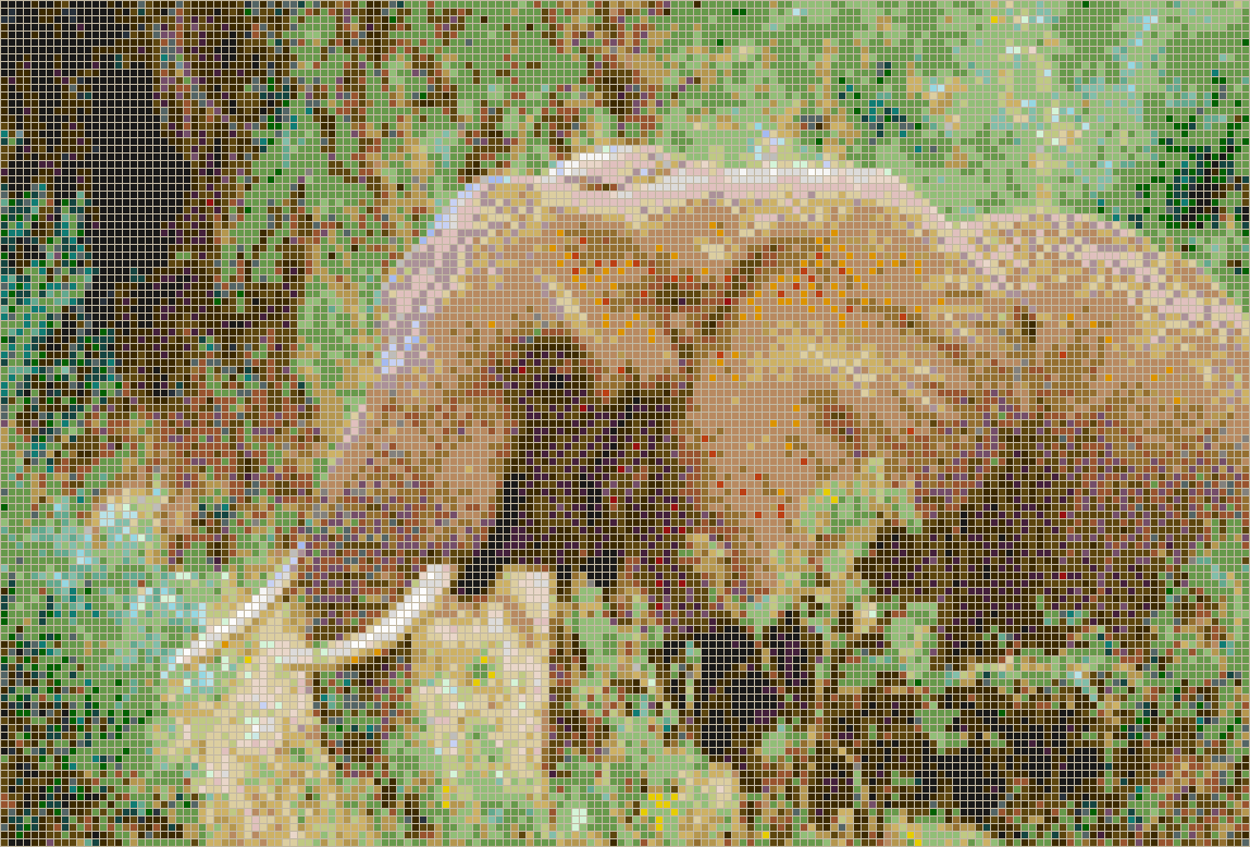 African Elephant Mosaic Tile Art