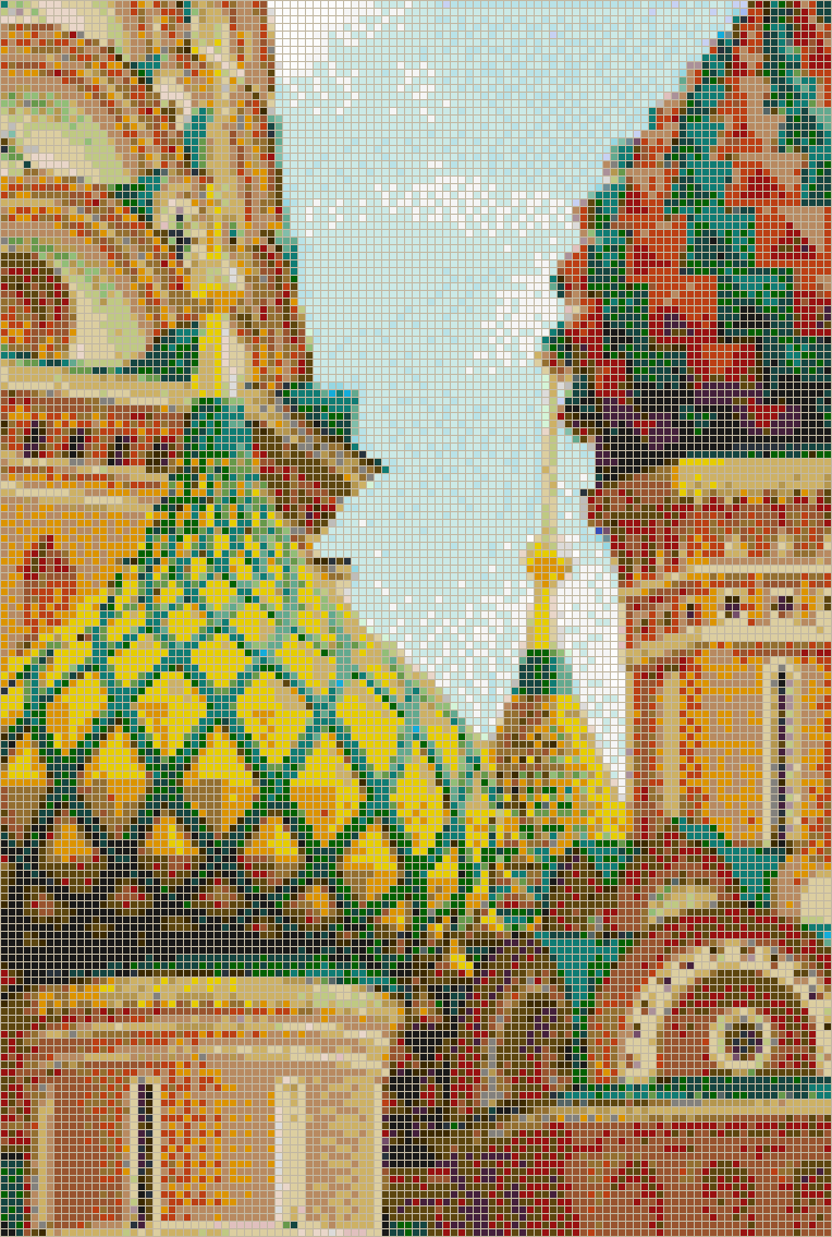 Detail Of St Basils Cathedral Moscow Mosaic Tile Art