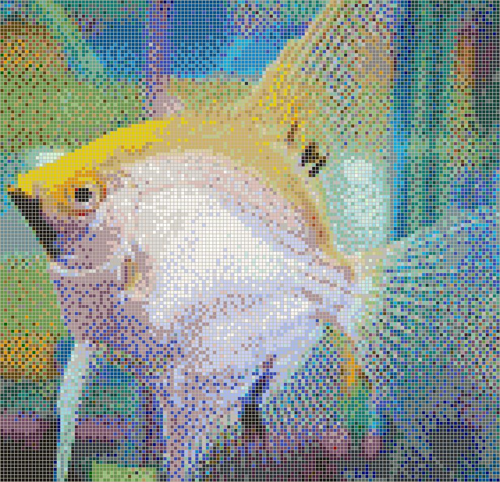 Gold Angelfish Mosaic Tile Art