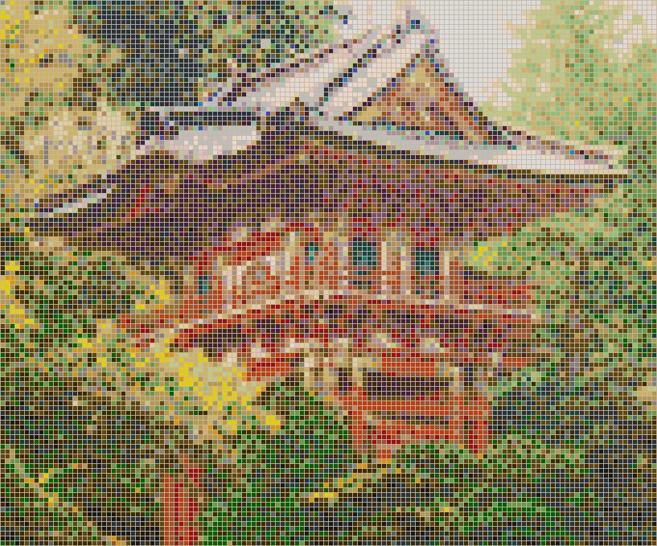Pagoda Japanese Tea Garden Mosaic Tile Art