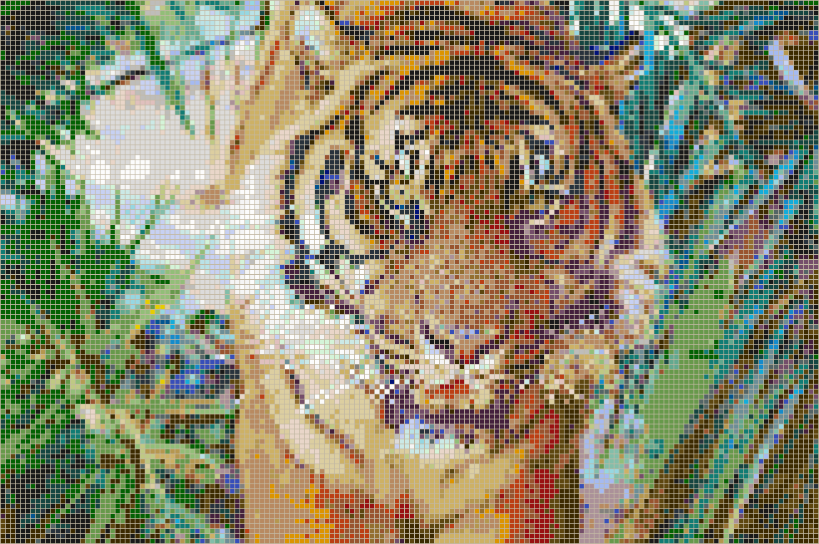 Sumatran tiger mosaic tile art Mosaic tile wall designs