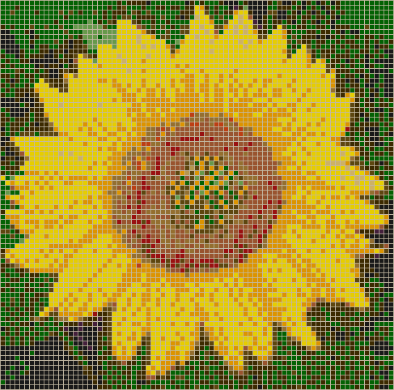 Sunflower Mosaic Tile Art