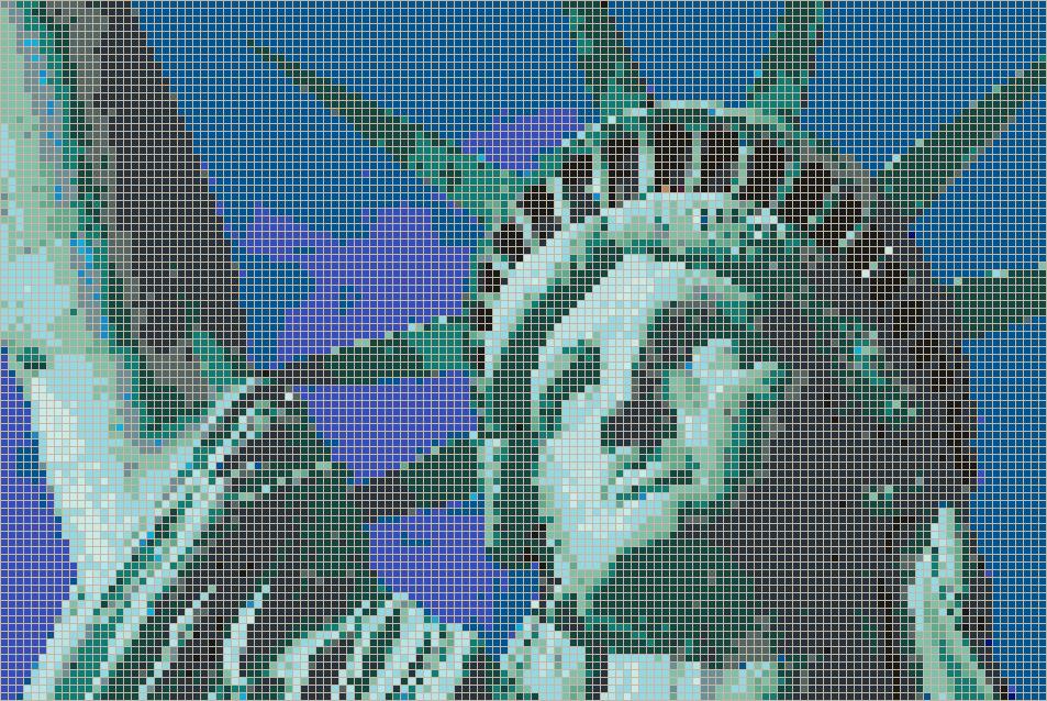 Statue Of Liberty Face Mosaic Tile Art