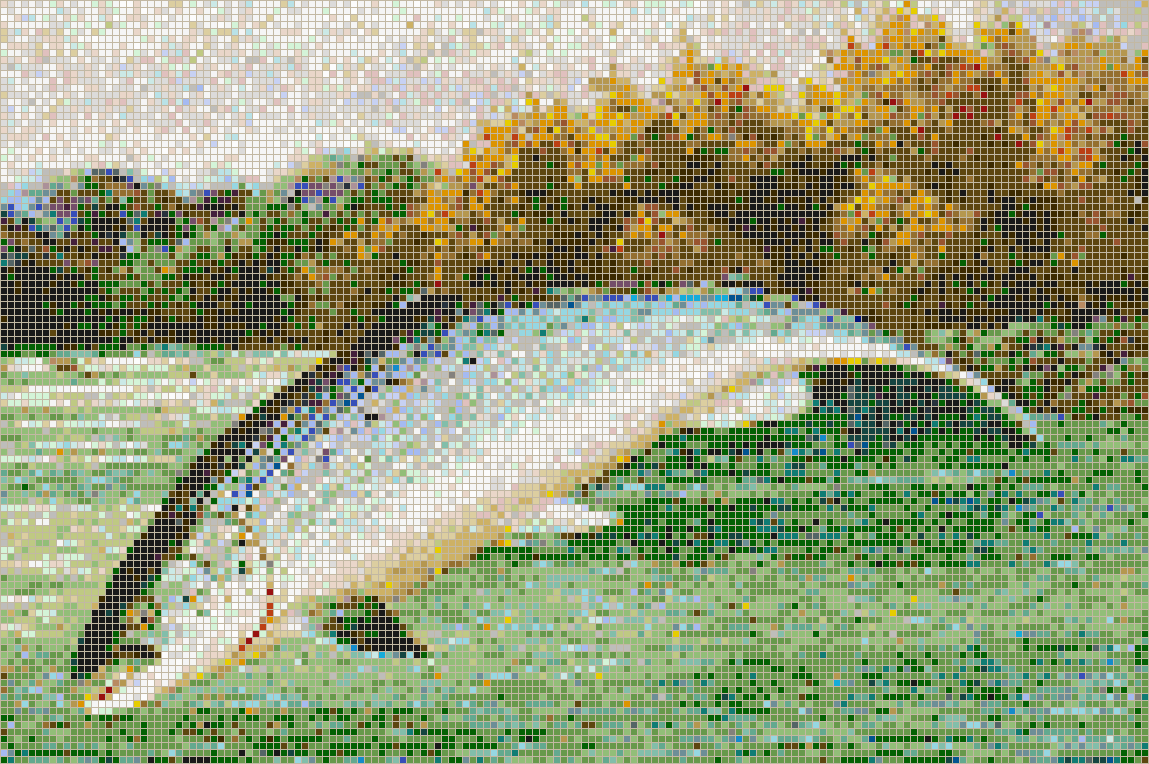 Salmon Leaping Mosaic Tile Art