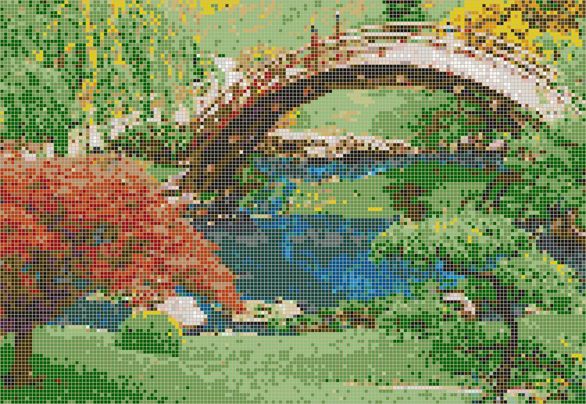 japanese garden - mosaic tile art