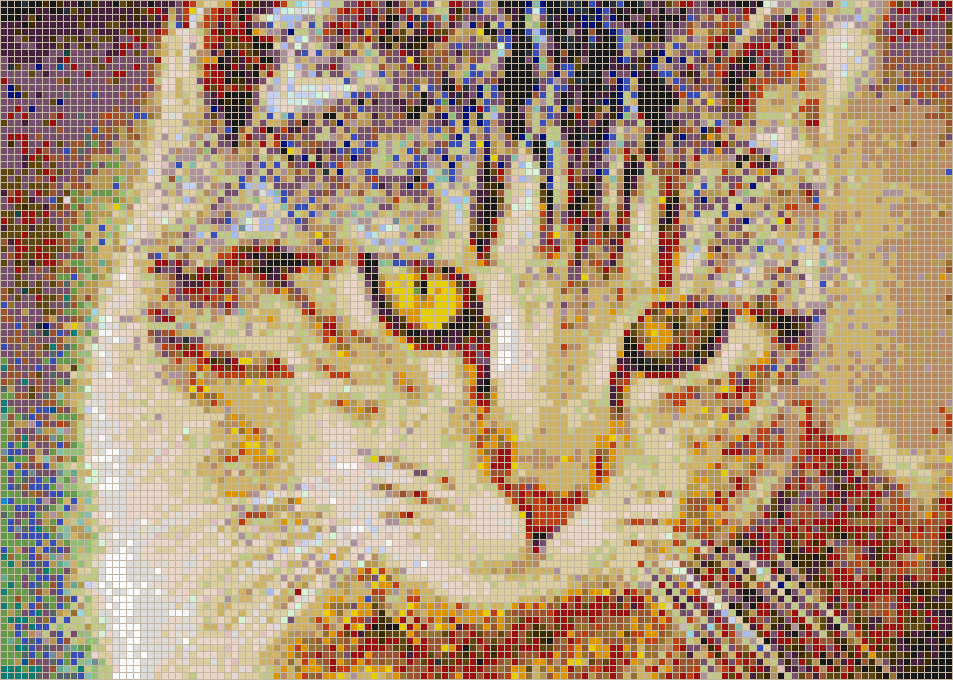 Bernice the Cat - Framed Mosaic Wall Art