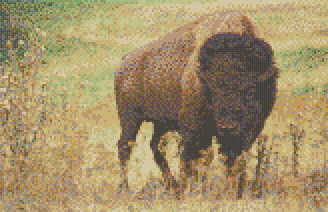American Bison - Framed Mosaic Wall Art