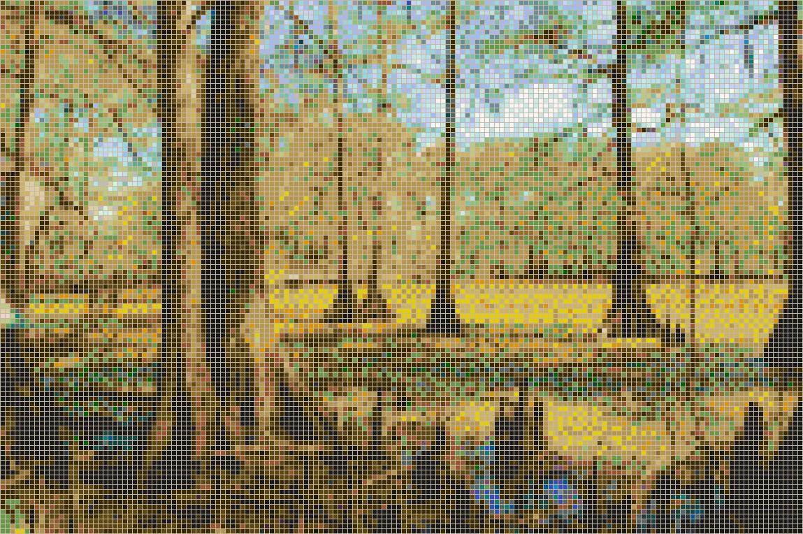 Louisiana Swamp Framed Mosaic Wall Art