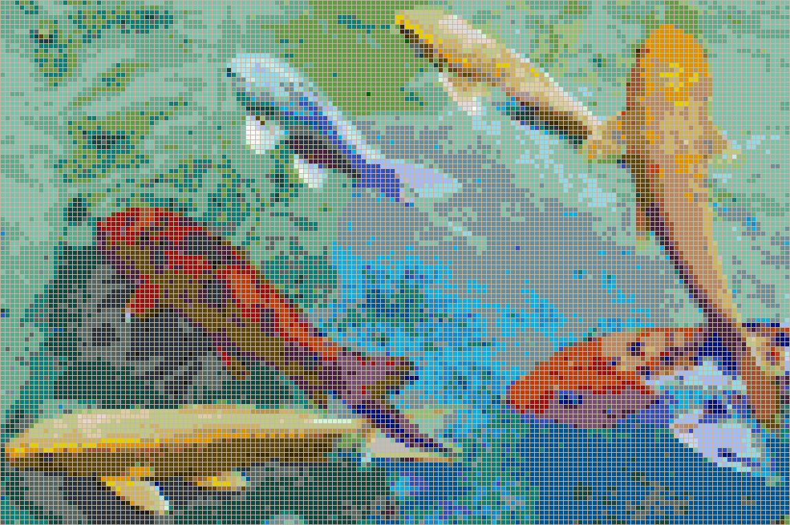 Rainbow koi framed mosaic wall art for Rainbow koi fish