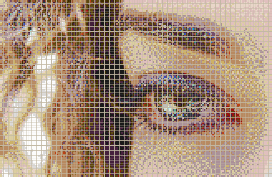 Curly eye alice framed mosaic wall art Mosaic tile wall designs