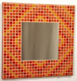 Autumn Diamonds 29cm - Mosaic Mirror