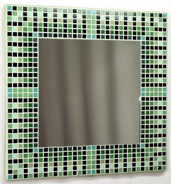Egyptian Green 38cm Mosaic Mirror