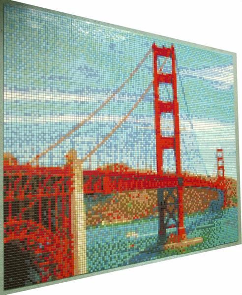 Golden Gate Bridge Mosaic Tile Art