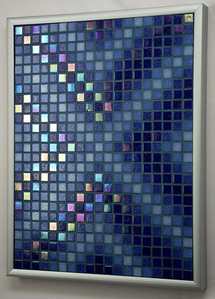 Navy Arrows Iridescent Mosaic