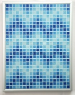 Aqueous ZigZags Mosaic Accent