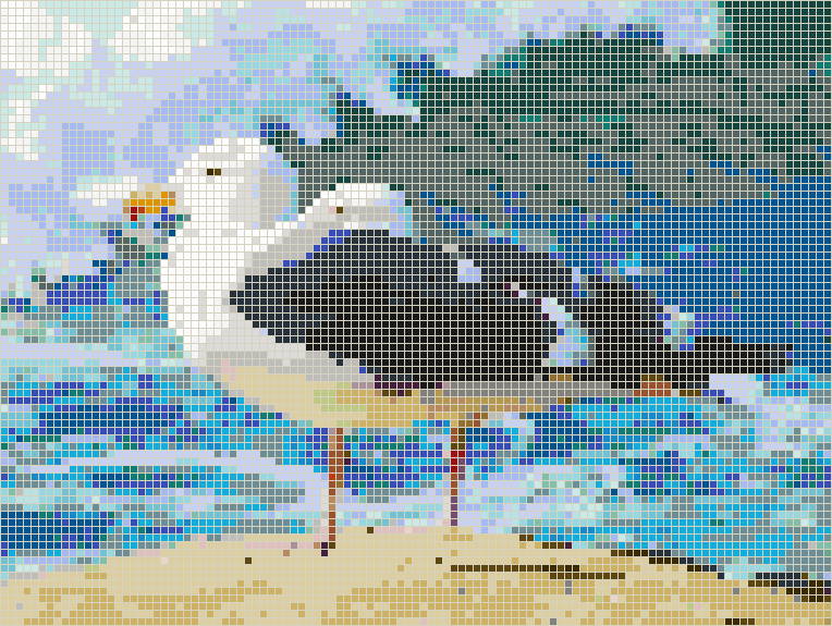 Seagulls by the Ocean - Mosaic Design