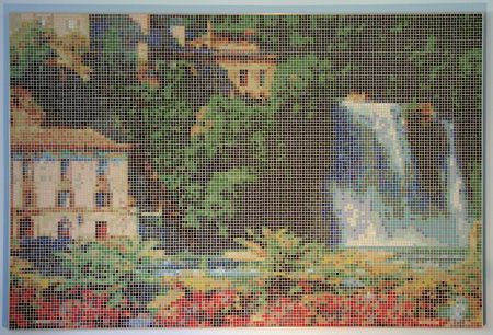 Italian Waterfall (Isola Liri) - Photo of Mosaic