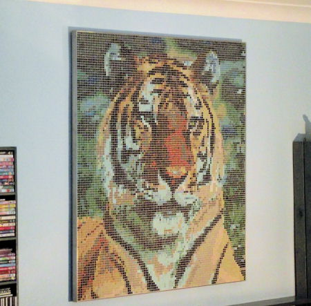 Photo of framed 'Framed Mosaic Wall Art' - Siberian Tiger