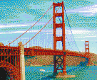 Golden Gate Bridge - Mosaic Art