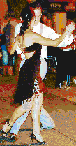 Tango Dancers in Buenos Aires - Mosaic Art